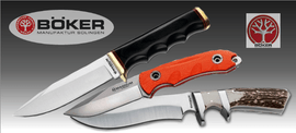 BOKER fixed blades outdoor knives, bowies