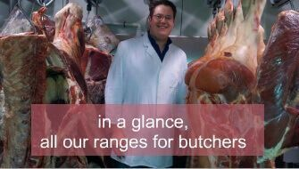 Knives and ancillary items for butchers