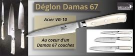 Kitchen knives Déglon Damas 67