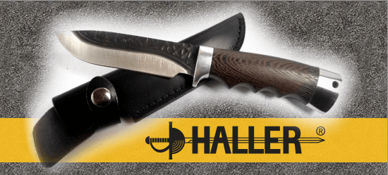 Haller outdoor knives, fixed blades