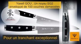 Yaxell Gou, japanese kitchen knives