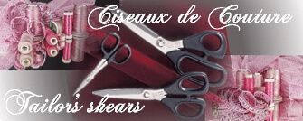 Tailors, sewing scissors