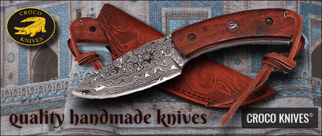 Croco knives quality handmade knives