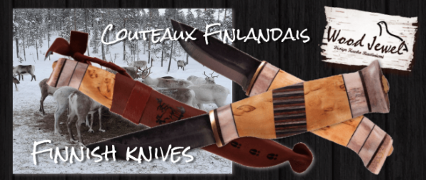 Couteaux outdoor finlandais Wood Jewel