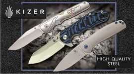 KIZER, folding knives