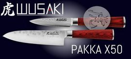 WUSAKI kitchen knives Pakka X50