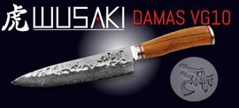 WUSAKI Damascus kitchen knives