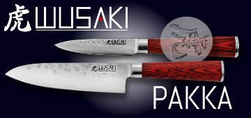 Wusaki Pakka X50 kitchen knives