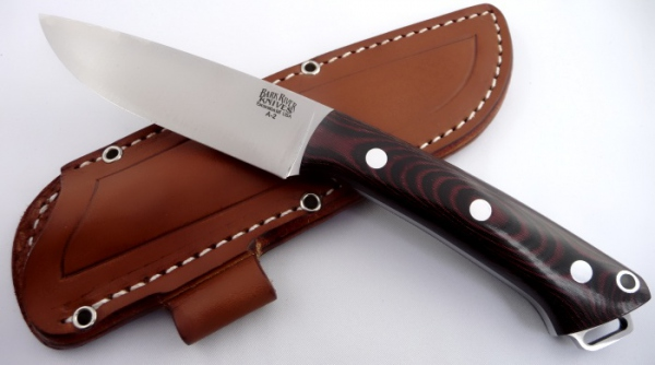 Hunter and Outdoor knife Bark River Fox River A2 Red&Black Linen