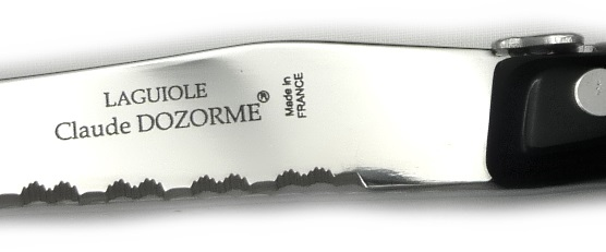 Laguiole steak knives Dozorme black
