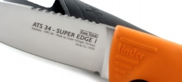 Outdoor knife Linder ATS 34 Super Edge 1 easy track