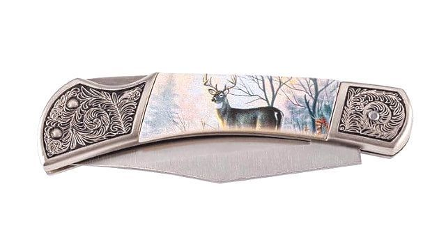 Herbertz folding knife with stag decoration 590411