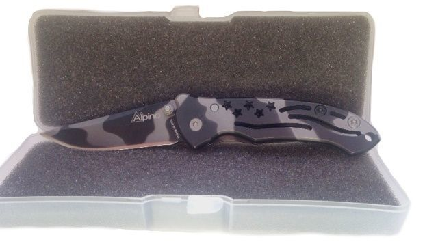 Folding knife Alpino 3 Titanio black 15004-S