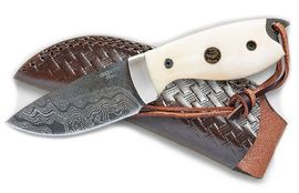 Handmade knife Croco Knives Damascus 19