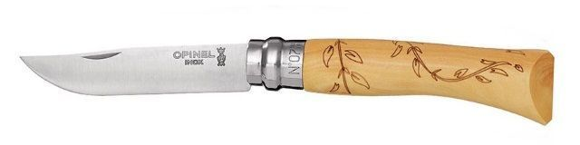 Opinel Nature knife boxwood leaves decorations