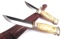 Set of 2 outdoor knives Wood Jewel Kaksoispuukko