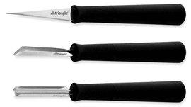 Basic Carving tools set Triangle 3 pcs