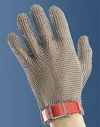 Metal mesh gloves 5 fingers Large