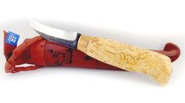 Wood-Jewel outdoor Lappish hunting knife avauspuukko