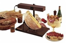 RACL02C Alpine raclette machine with knife