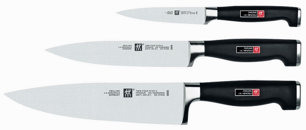 Set of knives 3 pieces  Zwilling Henckels Four Star II