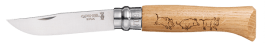 Opinel knive N° 8VRI series animalia 2 decoration Wild boar