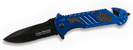 Folding knife Linder Rescue alu blue