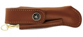 Folding knife Perou leather sheath with mini-sharpening steel