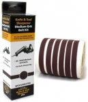 Replacement medium grit belts P220 for electrical sharpener Work Sharp WS1