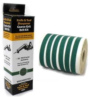 Replacement coarse grit belts P80 for electrical sharpener Work Sharp WS1