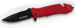 Folding knife Linder Rescue alu red