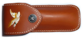 Folding knife Max Capdebarthes leather sheath embroidery Duck