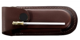 Leather sheath for folding knife with mini Sharpening steel