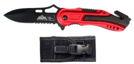 Rescue knife ATK Specop red handle 16404