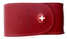 Leather knife pouch red Victorinox 4.0521.1