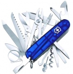 Swiss knife Swisschamp blue translucent 1.6795.T2