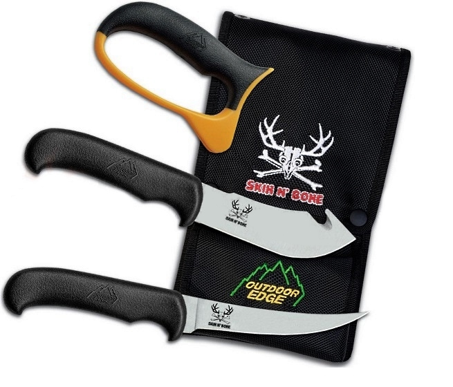 Set de découpe chasseur Outdoor edge Skin n'bone