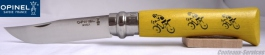 Opinel knife nr 08 Yellow jersey