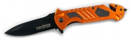 Taschenrettungsmesser Linder Rescue alu orange