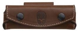 Folding knife cow brown leather sheath Muela, with horizontal port