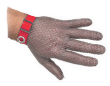 Stainless steel protective glove 5 fingers