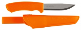 Survival knife Mora Bushcraft orange