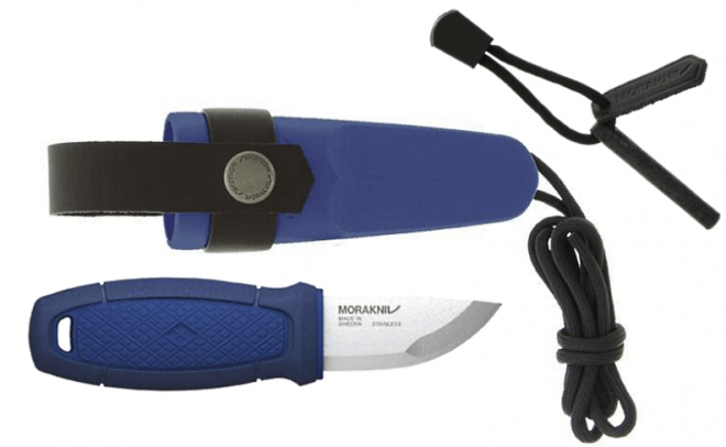 Eldris neck knife kit Morakniv Blue