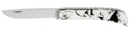Tom Fleury knife Le Mineur model Silver