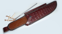 Leather sheath for the Outback knife
