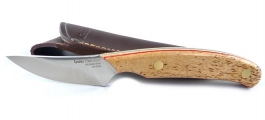 Skinning knife Linder handle curly beech