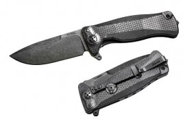 Lionsteel folding knife Titanium Black SR11.BB
