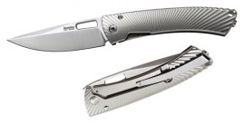 Couteau pliant Lionsteel TiSpine Shiney Grey TS1.GS