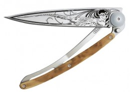 Deejo Tattoo folding knife Pheasant 1CB038