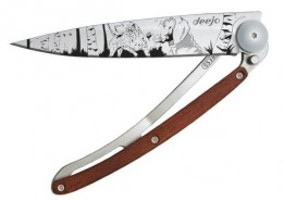 Deejo Tattoo folding knife Hunting Day 1CB037